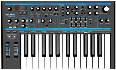 Аналоговый синтезатор Novation Bass Station II